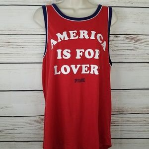 VS Pink America is For Lovers Tank Top